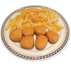 Nuggets with potatoes
