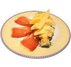 Piña con jamón